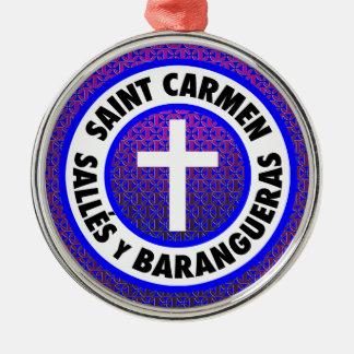 Heiliges Carmen Salles y Barangueras Silbernes Ornament