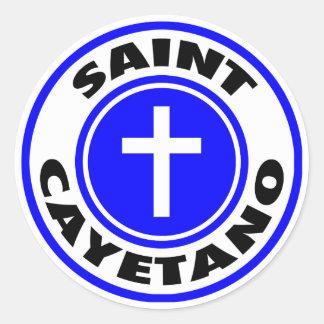Heiliges Cayetano Runder Aufkleber