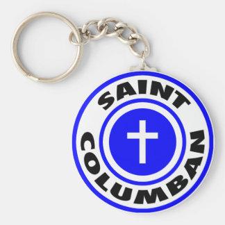 Heiliges Columban Standard Runder Schlüsselanhänger