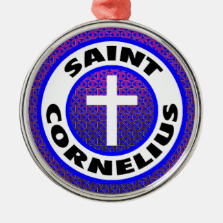 Heiliges Cornelius Silbernes Ornament