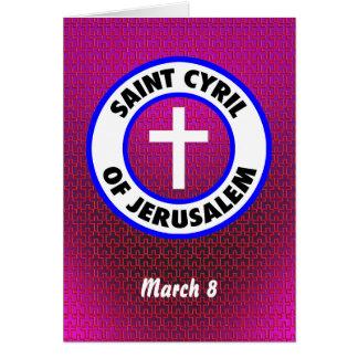 Heiliges Cyril von Jerusalem Karte