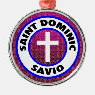 Heiliges Dominic Savio Silbernes Ornament