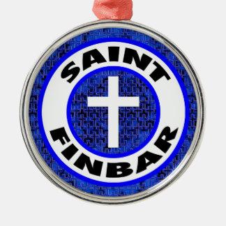 Heiliges Finbar Silbernes Ornament