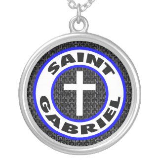 Heiliges Gabriel Versilberte Kette