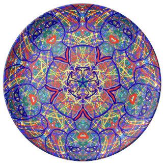 "Heiliges Geometrie ""Chavela"" Porzellan überziehen Porzellanteller"