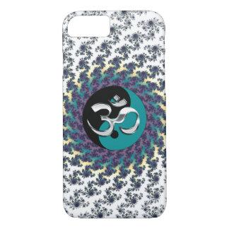 Heiliges Geometrie-Fraktal mit Yin-Yang und OM iPhone 7 Hülle