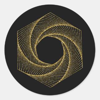 Heiliges Geometrie-Symbol Runder Aufkleber
