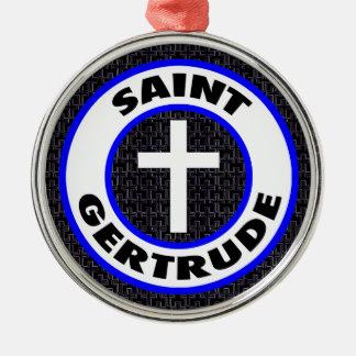 Heiliges Gertrud Silbernes Ornament