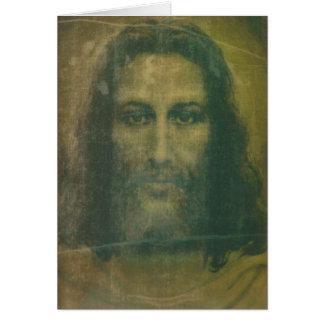 Heiliges Gesichts-Massenkarte Grußkarte
