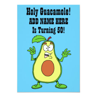 Heiliges Guacamole jemand dreht Avocado 50 Karte
