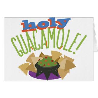 Heiliges Guacamole Karte