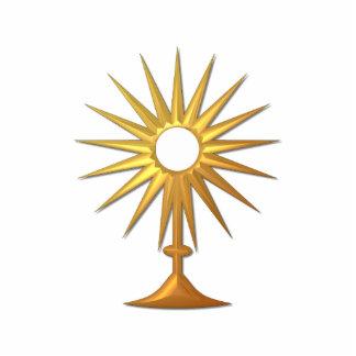 Heiliges heiliges Abendmahl im goldenen Monstrance Freistehende Fotoskulptur