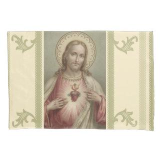 Heiliges Herz dekorativer Grenze Jesuss Kissen Bezug