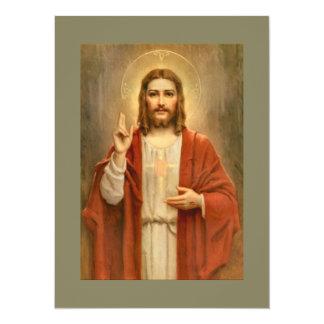 Heiliges Herz mit Halo 14 X 19,5 Cm Einladungskarte