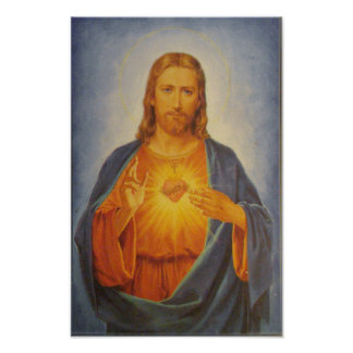 Heiliges Herz von Jesus Poster