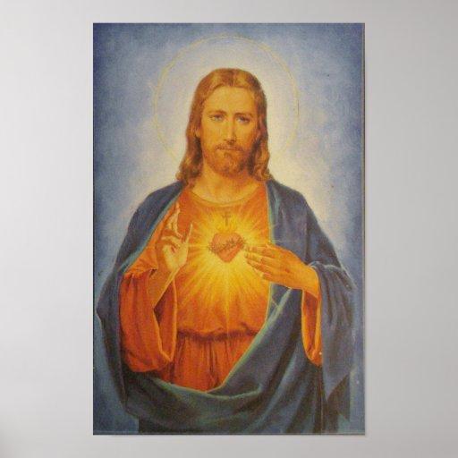 Heiliges Herz von Jesus Plakat