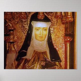 Heiliges Hildegard von Bingen Poster