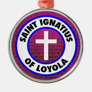 Heiliges Ignatius von Loyola Silbernes Ornament