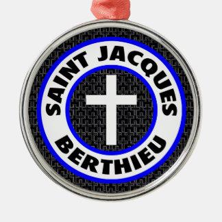 Heiliges Jacques Berthieu Silbernes Ornament