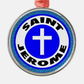 Heiliges Jerome Silbernes Ornament