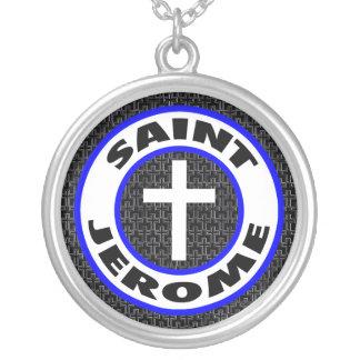 Heiliges Jerome Versilberte Kette