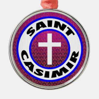 Heiliges Kasimir Silbernes Ornament