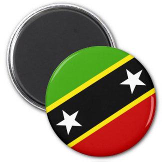 Heiliges Kitts und Nevis-Flagge Runder Magnet 5,7 Cm