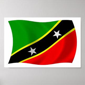 Heiliges Kitts und Nevis-Flaggen-Plakat-Druck Poster