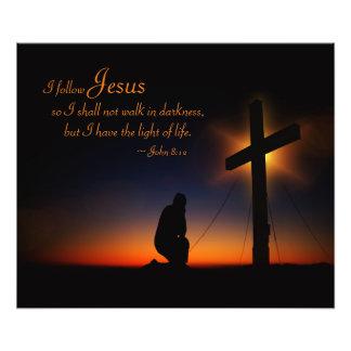Heiliges Kreuz am Sonnenuntergang (personifizieren Fotodruck