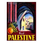 Heiliges Land-Vintage Reise-Kunst Besuchs-Palästin Postkarten