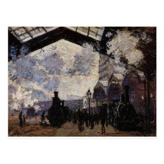 Heiliges-Lazare Station, Außenansicht durch Claude Postkarte