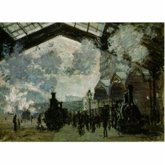 Heiliges Lazare Station durch Claude Monet Freistehende Fotoskulptur