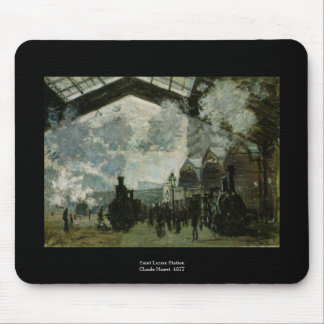 Heiliges Lazare Station durch Claude Monet Mousepad