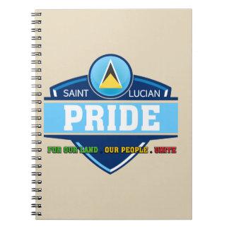 Heiliges Lucian Stolz-Logo-Notizbuch Spiral Notizblock