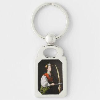 Heiliges Lucy Keychain - Gönnerin der Augen Schlüsselanhänger