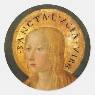 Heiliges Lucy Lucia c1470 Runder Aufkleber