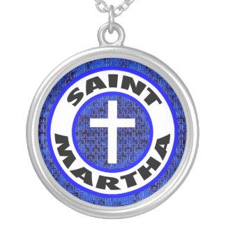 Heiliges Martha Versilberte Kette