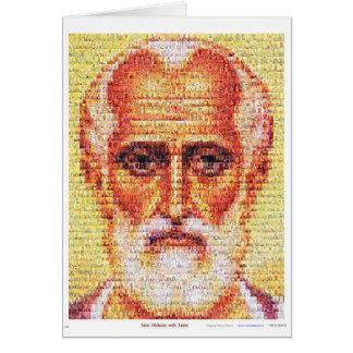 Heiliges Nicholas mit Heiligen Karte