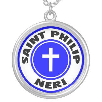 Heiliges Philip Neri Versilberte Kette