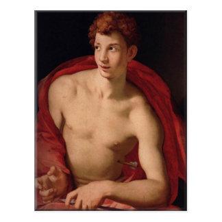 Heiliges Sebastian-Agnolo Bronzino Postkarte