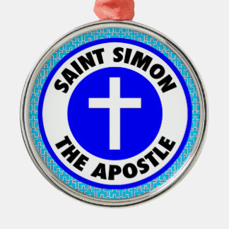 Heiliges Simon der Apostel Silbernes Ornament