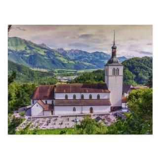 Heiliges-Theodule Gemeinde, Gruyeres, die Schweiz Postkarte