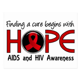 Heilung fängt mit Hoffnung 5 AIDS an Postkarte