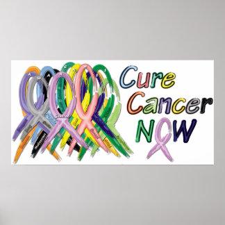 Heilungs-Krebs-JETZT Bewusstseins-Plakat Poster