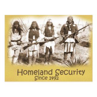 Heimat-Sicherheit Postkarte