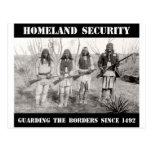 HEIMAT-SICHERHEIT, welche die Grenzen seit 1492 sc Postkarte