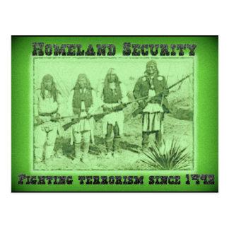 Heimat-Sicherheits-kämpfender Terrorismus seit Postkarte