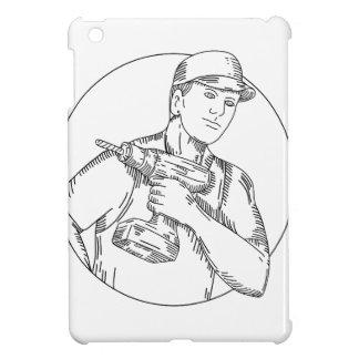 Heimwerker-drahtloses Bohrgerät-Monolinie iPad Mini Hülle