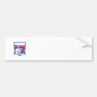 Heimwerker-drahtloses Bohrgerät Paintroller Schild Autoaufkleber
