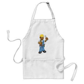 Heimwerker-Mechaniker oder Klempner mit Schlüssel Schürze